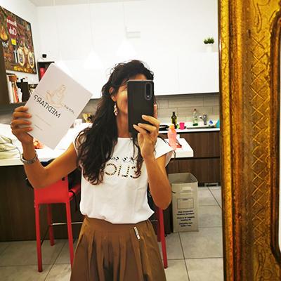 Foto de una cliente el libro